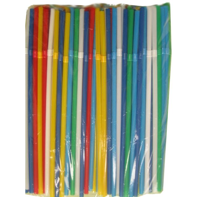 Трубочки гофровані асорті 21 см, 5 мм, 1000 шт.