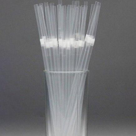 Трубочки гофрована прозора 21 см, 5 мм, 1000 шт.