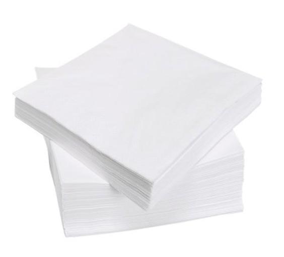 Серветка біла 24*24 1-шар 100шт/пач