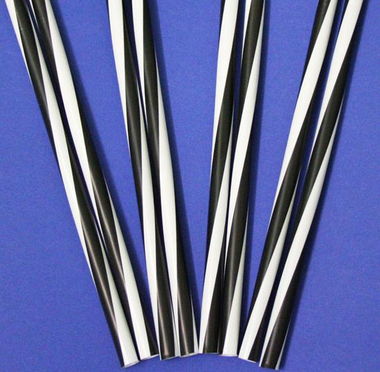 Трубочки Гвинтові Фреш чорно-біла 25 см 500шт