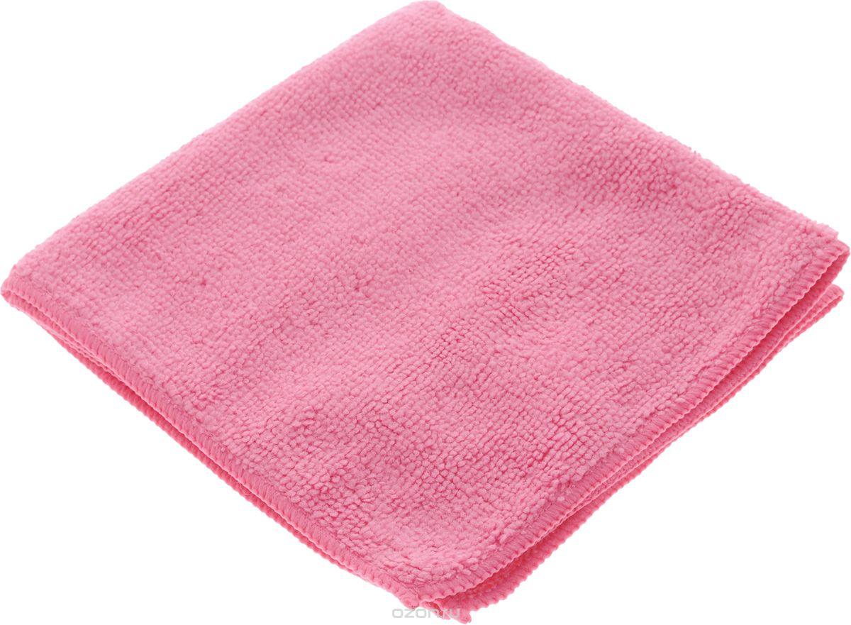 Серветка мікрофібра Сlean Up універс рожева 30х30см 5шт