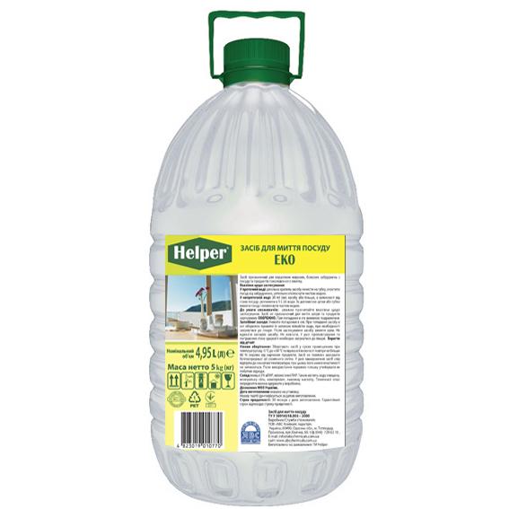 Засіб для миття посуду Економ прозорий 5 кг Helper