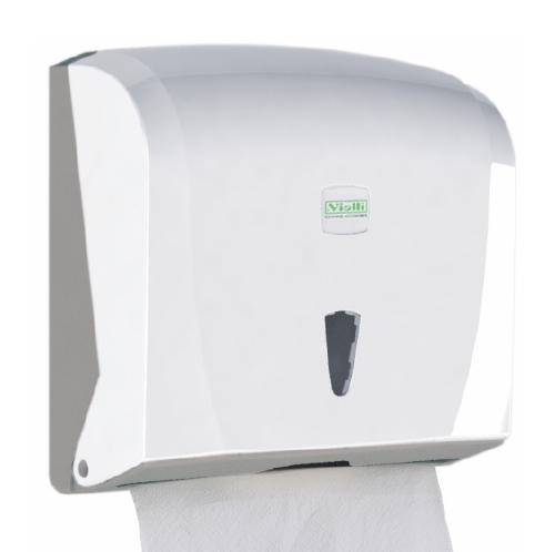 Держатель бумажных полотенец C, V складка, белый пластик. K40